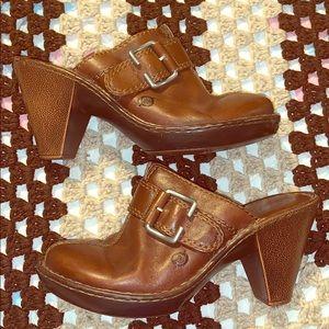 Born heeled clogs